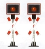 Busch 5949 N 2 Railroad crossing blinking lights with circuit