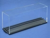 "GA 1303001 H0 Acrylic glass showcase 300mm (11.81"") long with track"