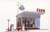 Busch 1005 H0 Gas station from the 1950s